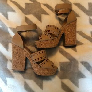Qupid sandals! Size 5.5. Worn once.